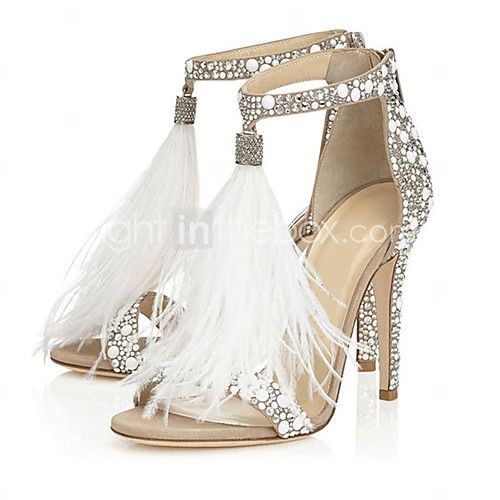Women's Sandals Spring Summer Fall Fleece Wedding Dress Party & Evening Stiletto Heel Pearl Tassel White - AUD $75.78 ! HOT Product! A hot product at an incredible low price is now on sale! Come check it out along with other items like this. Get great discounts, earn Rewards and much more each time you shop with us!