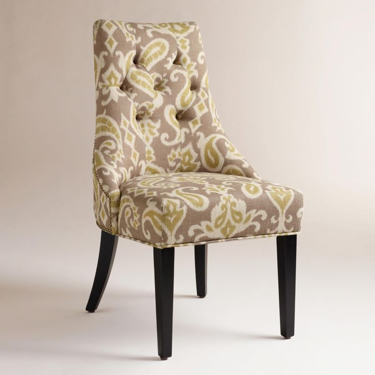 Ikat Lydia Dining Chairs, Set of 2   World Market These would be nice at each end with four wood chairs on the side.