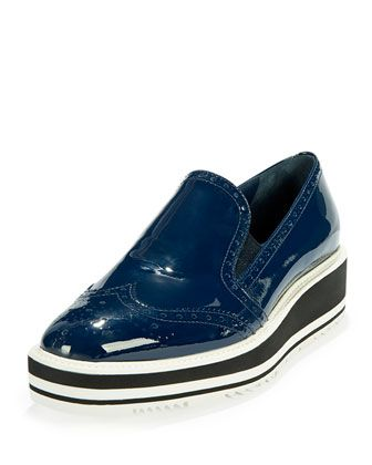 Patent+Leather+Wing-Tip+Loafer,+Royal+Blue+by+Prada+at+Neiman+Marcus.