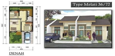 Desain Rumah Type 36 Luas Tanah 72