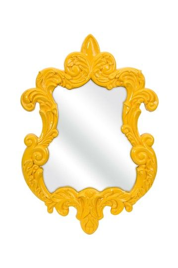 Finely Baroque Wall Mirror - Yellow by Furnish With Color: Accents & Decor on @HauteLook