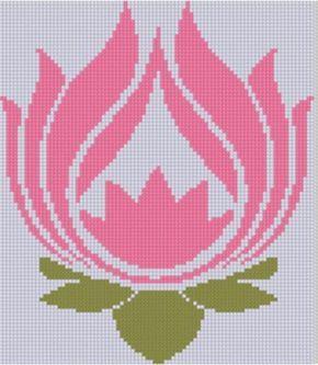 Lotus Flower Cross Stitch Pattern   Craftsy