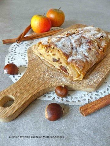 Voici une version sans gluten très personnelle du Strudel, gâteau aux fruits d'automne incontournable des grandes occasions en Autriche.