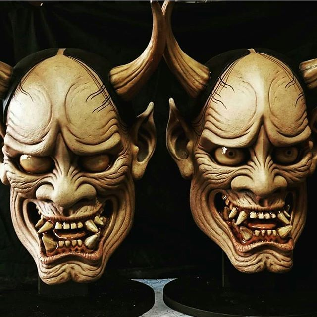 More incredible work from artist Aso Keiji (@asokeiji) with his traditional Hannya masks. -- #hannya #samurai #japan #oni #Mask #sculpt #demon #sculpture #creature #monster #cosplay #manga #Masks