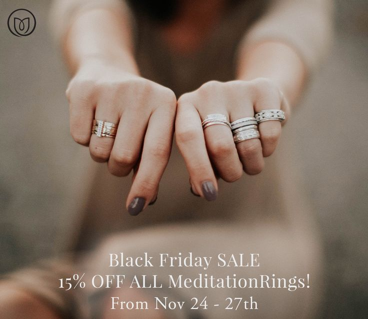 This week: November 24-27: 15% off all Meditation Rings! In addition to our other #BlackFriday specials! Based on the ancient Tibetan Prayer Wheels, the meditation ring was designed to have one or several outer bands that you can physically spin around the actual ring. This is said to bring the wearer good karma, a sense of serenity and peace, good luck and fortune. https://www.danasgoldsmithing.com/pages/meditationrings