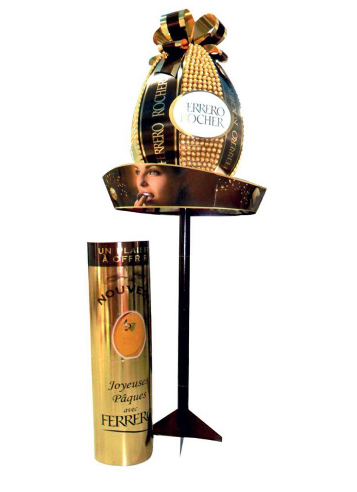 Fronton + totem Ferrero Rocher Pâques
