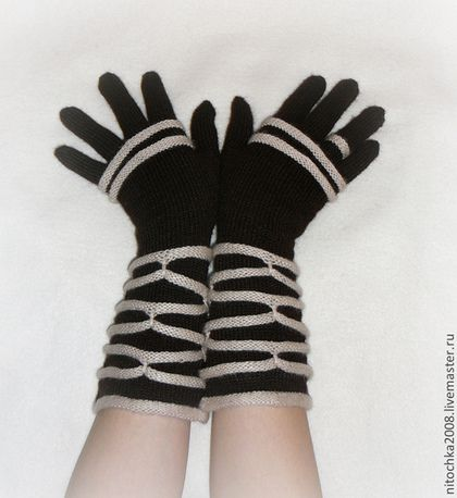 "Варежки, митенки, перчатки ручной работы. Ярмарка Мастеров - ручная работа Перчатки ""Гламур"". Handmade."