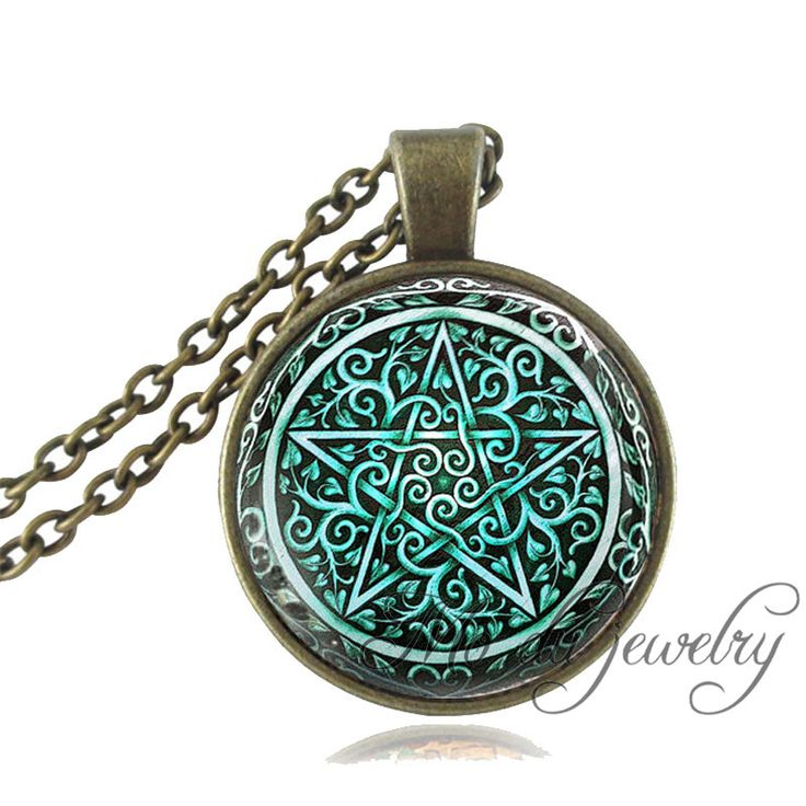 Vintage Magic Pentagram Pendant Bronze/Silver Chain Pentacle Necklace Women Glass Dome Pentagram Jewelry Occult Wiccan Necklace-in Pendant Necklaces from Jewelry & Accessories on Aliexpress.com | Alibaba Group