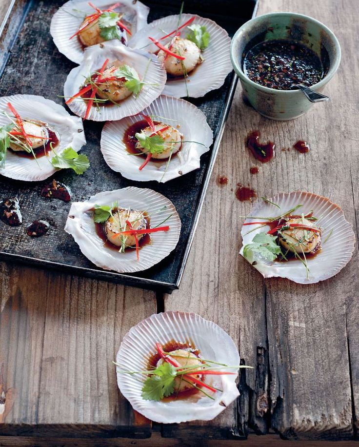 Seared scallops with tamari, lemongrass and chilli by Luke Nguyen from The Food of Vietnam | Cooked