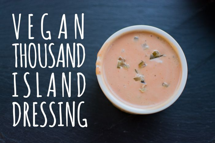 A good dressing helps you eat more greens. More salad. More vegetables. We all want that. Learn how to make #vegan thousand island dressing.