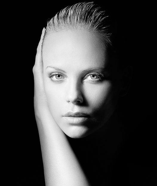Charlize Theron (1975) - South African and American actress, producer, director, and fashion model.  Photo: Andrew McPherson