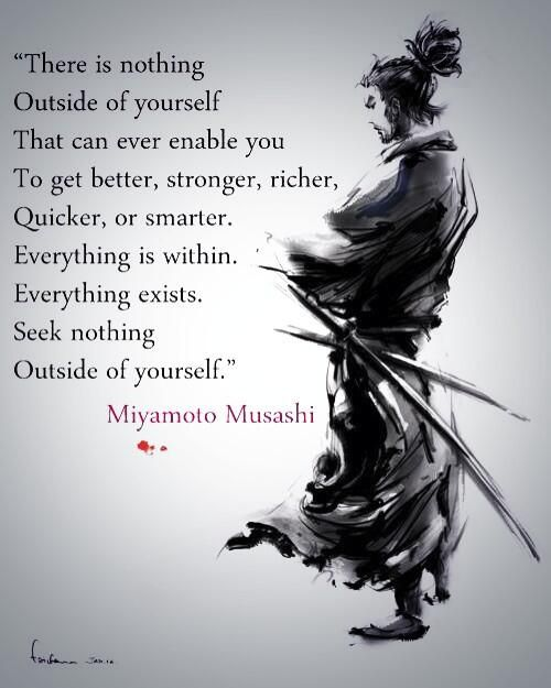 Everything is within...  Be inspired by your self-discipline!