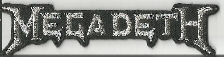 MEGADETH Logo Shaped Woven Patch Sew On Official Band Merch