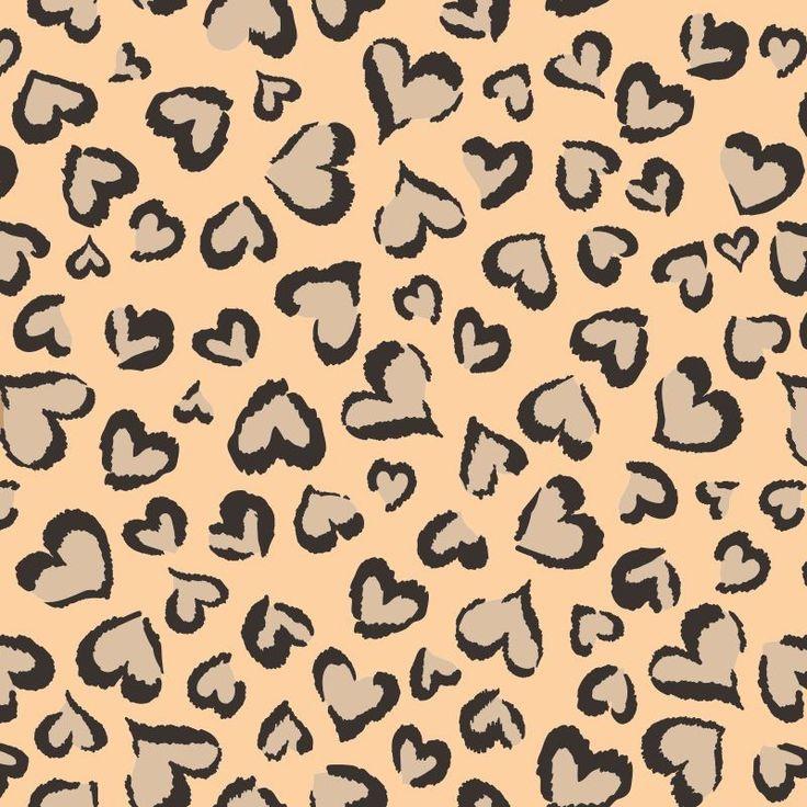 Papel de Parede Coração (Love) Corações em estampa de Onça
