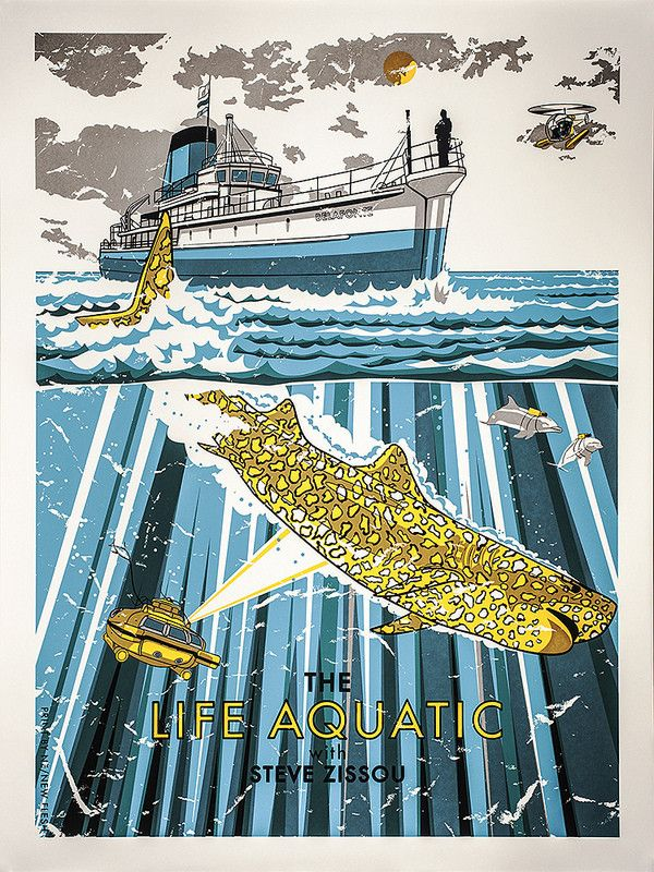 """The Life Aquatic - """"The Jaguar Shark"""" by New Flesh. Shown at the Spoke Art Gallery in San Francisco"""