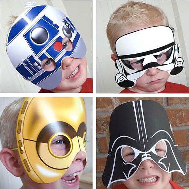 Star Wars Printable Masks Let Your Kiddies Probe The Galaxy In Style #starwars #geek
