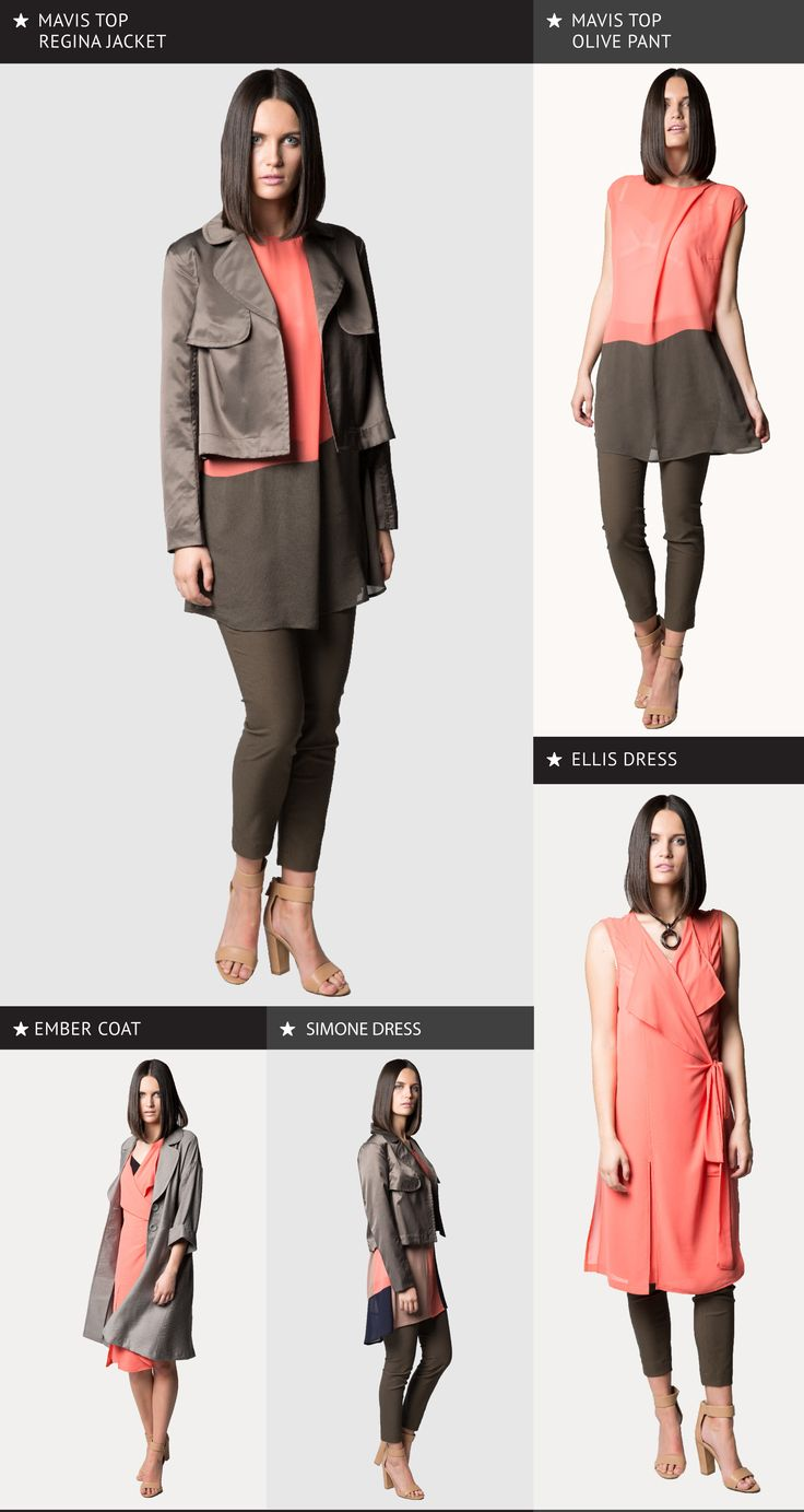 Annah Stretton designer. Summer weight jackets. Slim fitting pants. Pants to wear with tunics. Pastel colours.  Layering tops. Summer wrap dress. Summer weight trench coat. Designer trench coat. Structured jacket.  Photography Nicole Troost.