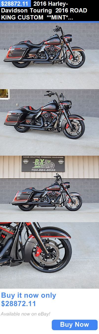 Motorcycles: 2016 Harley-Davidson Touring 2016 Road King Custom **Mint** $16K In Xtras! Cvo Killer!! Bad @Ss!!! BUY IT NOW ONLY: $28872.11 #harleydavidsonroadkingspecial