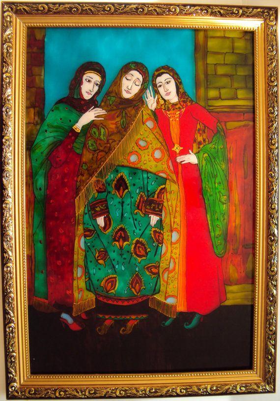Витражная картина Девушки от Stainedglasss500 на Etsy