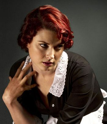 Alexandra Breckenridge from American Horror Story.  (I don't think she's a natural red head.)