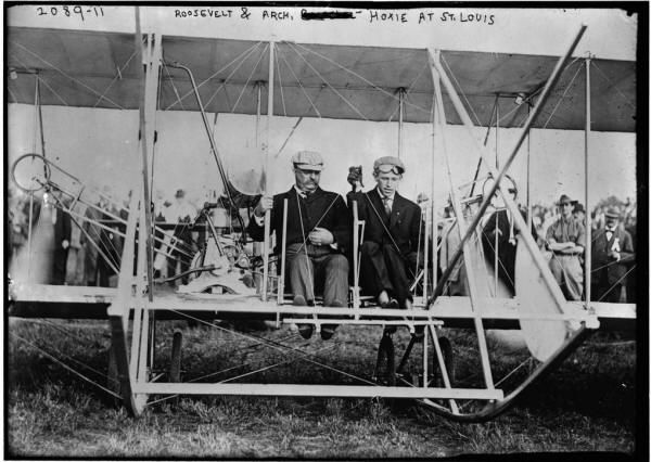 Teddy Roosevelt was the first president to fly. 1910