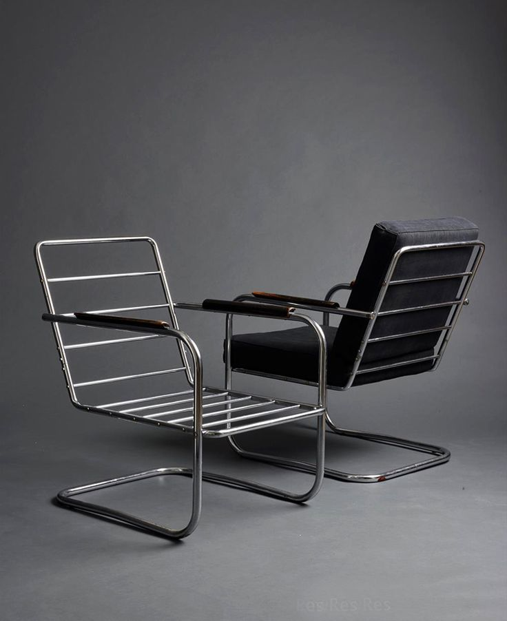 Hans Luckhardt, armchair KS42, 1933. Chromed tubular steel. Berlin, Germany. Via Ulrich Fiedler