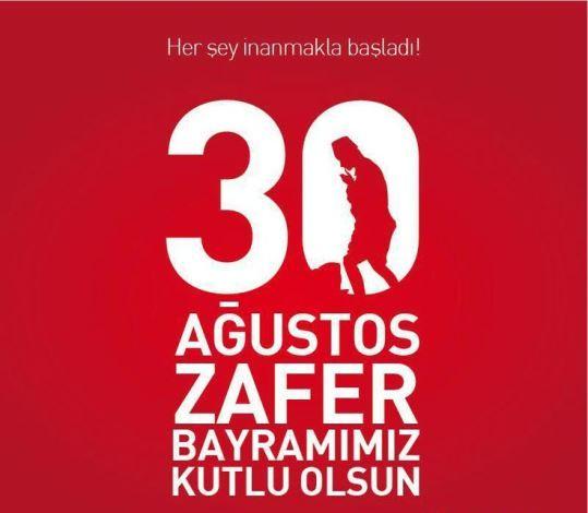 Bugün, 30 Ağustos Zafer Bayramımız yani Başkomutanlık Meydan Muharebesi'nin (Başkumandanlık Muhaberesi'nin) yıldönümü, kutlu olsun! Şehitlerimizin ruhu şad olsun…