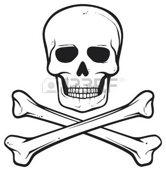 tte de mort pirate crne et les os symbole de pirate illustration