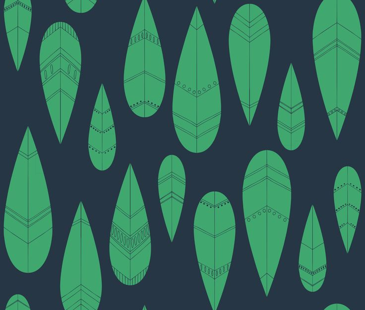 Lily Fink MoneyPenny Collection - Pike Green/Navy. Wallpaper or Fabric.