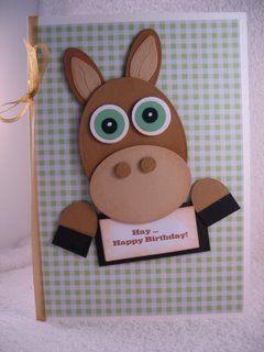 A cute Horse card to make.