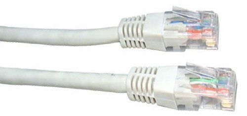 From 8.95:50m White Network Cable - High Quality / CAT5e (enhanced) / RJ45 / Ethernet / Patch / LAN / Router / Modem / 10/100