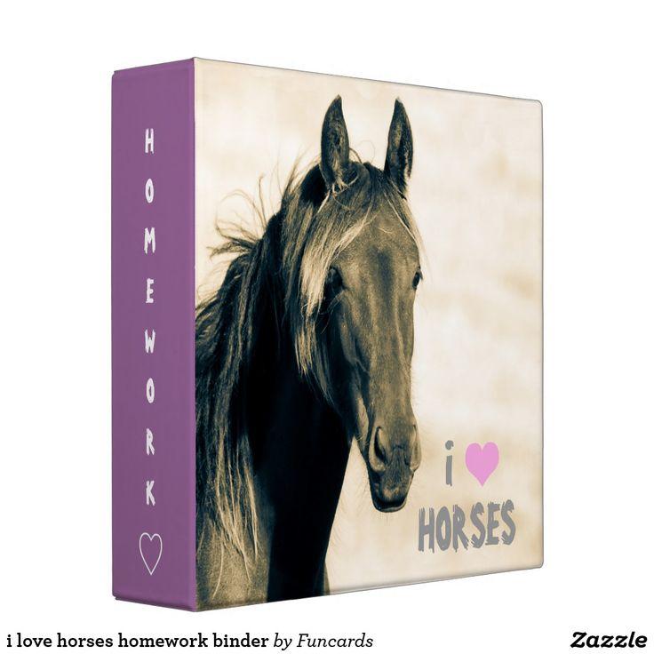 i love horses homework binder