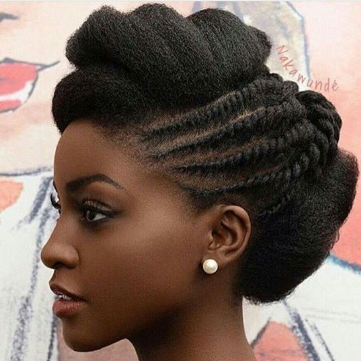 Gorgeous natural updo                                                                                                                                                                                  More