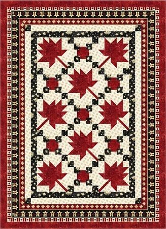 Maple Leaf Parade Quilt Pattern, by Wanda's Design