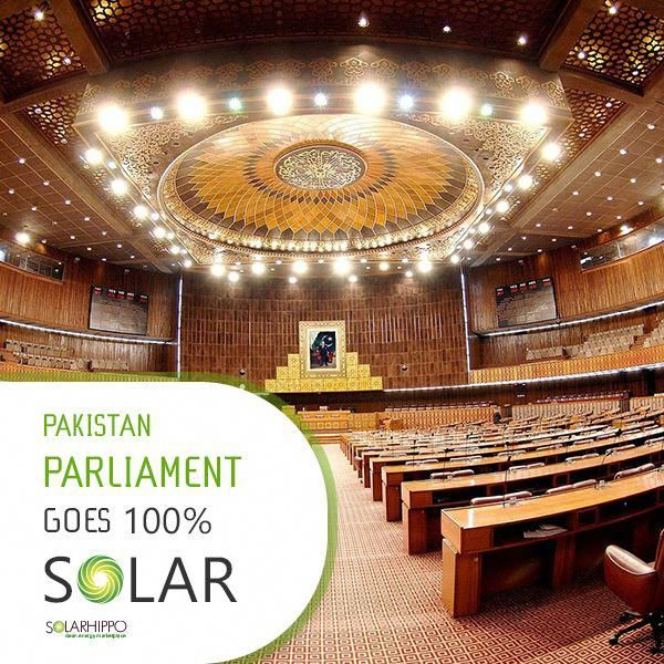 Pakistan S Parliament Has Become The First In The World To Run Entirely On Solar Power Best Solar Panels Solar Power Solar Solutions