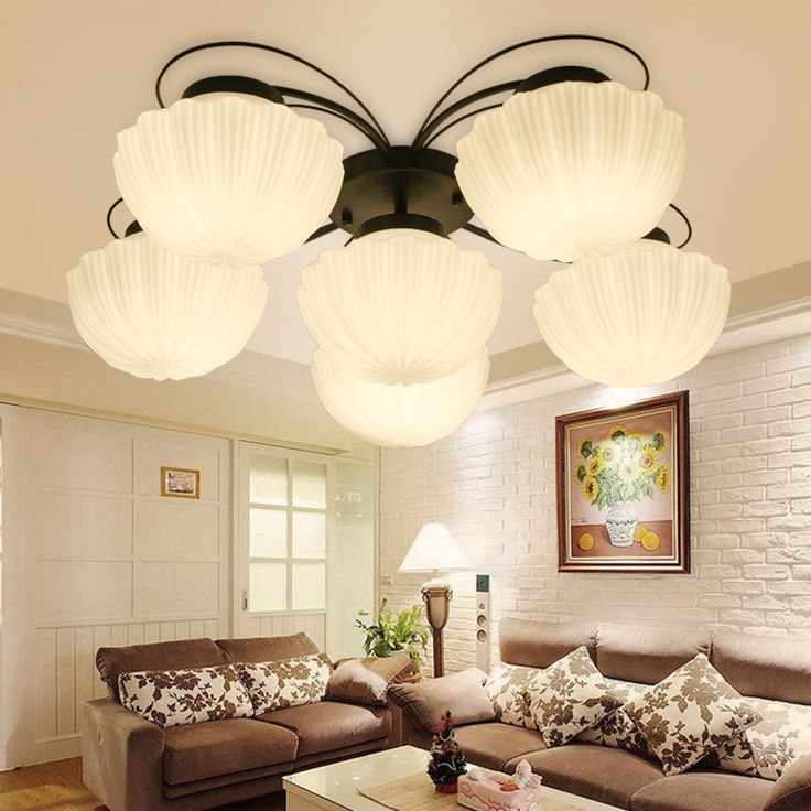Find More Ceiling Lights Information About Modern Lustre LED Light American Country Shell Lamp Shade Kitchen Living Room Fixture