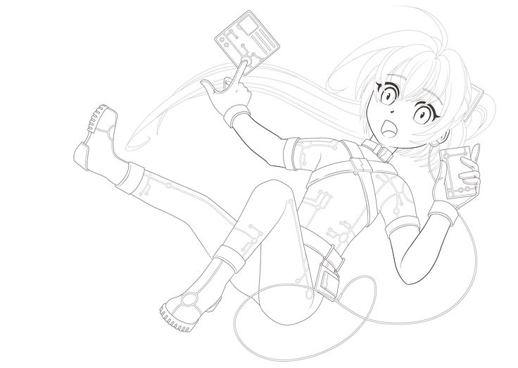 lineart___techno_girl_by_witchcrystalchan-da4twwf.png (PNG Image, 3504 × 2492 pixels)