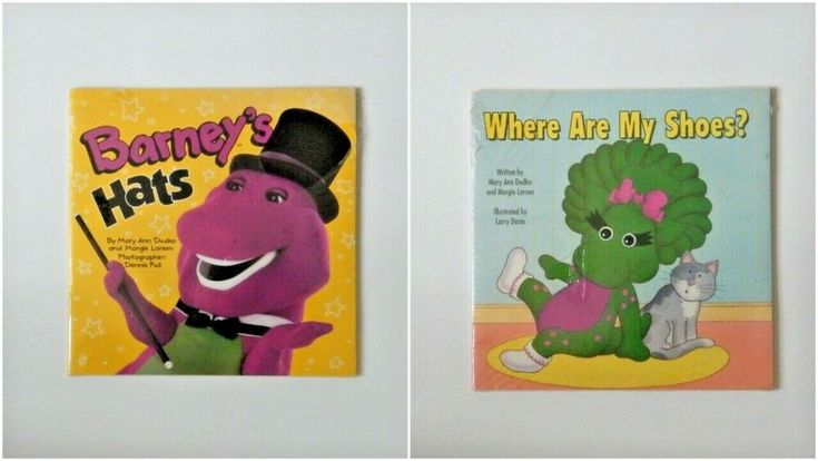 2 Children Books Barney U0026 39 S Hats And Where Are My Shoes New