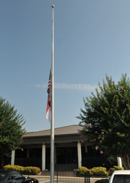 flags at half mast days