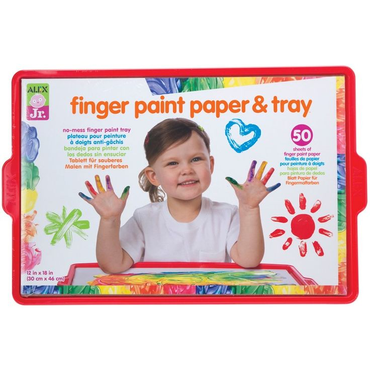 Finger Paint Paper and Tray Toddler Art Set by Alex Toys will allow your tot to create mess-free art masterpieces. Manufactured by Alex Toys.