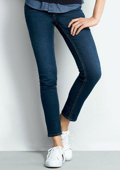d9a43fd58 Calça Jeans Feminina Super Skinny Com Cintura Intermediária