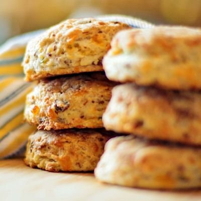 ... with your meal, Herb-Cheese Biscuits are crisp, light and flavorful