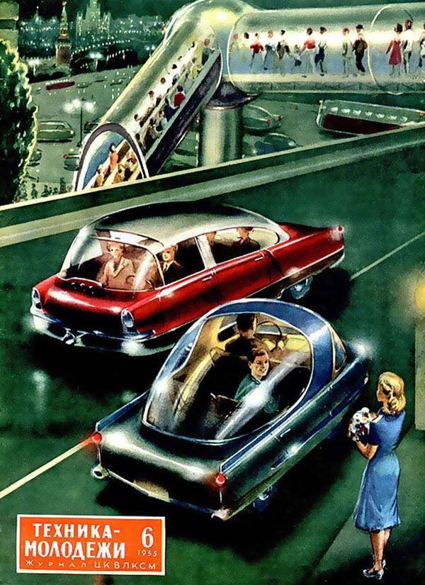 1955 - a view of the future. Also, I used to read old copies of this magazine when I was little! :D