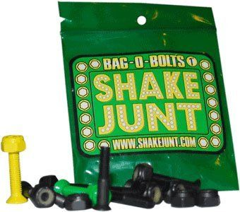 "Shake Junt Allen Bag-O-Bolts Green / Yellow Skateboard Hardware Set - 1"" by Shake Junt. $4.74. Assemble your skateboard with durable Shake Junt skateboard hardware, designed to withstand the toughest abuse.. Save 20%!"