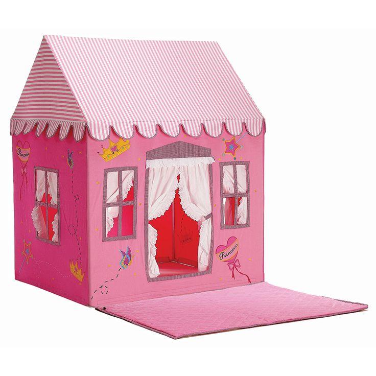 розовый домик большой