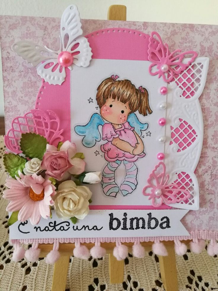 Tilda in my baby card