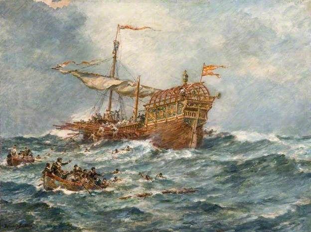The Wreck of a Spanish Treasure Ship  by Bernard Finnigan Gribble