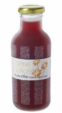 Tisane glacée Hibiscus fruits d'été (coffret 3 bouteilles) Fruitée et apaisante  www.jardins-hermitage.com