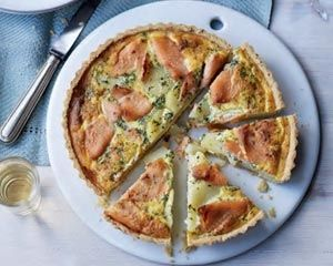 Smoked salmon tart recipe: Recipes: Good Food Channel