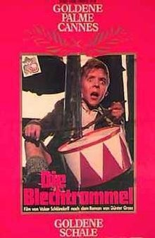 The Tin Drum (German: Die Blechtrommel) is a 1979 film adaptation of the novel of the same name by Günter Grass. It was directed and co-written by Volker Schlöndorff. Stylistically it is a black comedy.  The film won the Palme d'Or at the 1979 Cannes Film Festival and the 1979 Academy Award for Best Foreign Language Film.